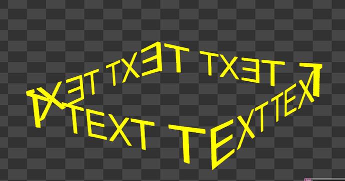 Deformed text